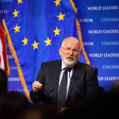 "Timmermans: Politicienii romani incearca sa scape de presiunea din lupta anticoruptie. E inacceptabil, vom spune ""nu"""