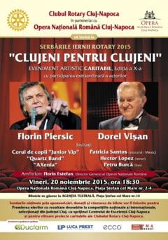 Titanii scenei romanesti, Florin Piersic si Dorel Visan, pe scena Operei Nationale Romane din Cluj