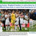 Titlurile din presa engleza dupa infrangerea din semifinalele Cupei Mondiale: We're coming home