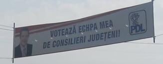 Toate bannerele PDL din judetul Tulcea sunt gresite