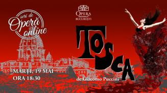 Tosca, una dintre marile capodopere ale lui Puccini, transmisa in cadrul Seri de Opera Online