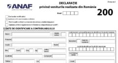 Tot mai multe persoane sunt vizate de depunerea formularului 200 la ANAF