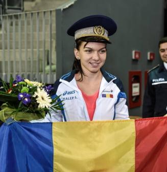 """Totul pentru victorie: Simona Halep si-a """"spionat"""" prima adversara din Fed Cup"""