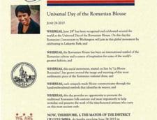 "Traditie romaneasca la Washington: Capitala Americii sarbatoreste ""Ziua universala a iei"""