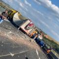Trafic blocat pe A1 Sibiu-Deva, după un accident violent în care au fost implicate 5 autovehicule FOTO VIDEO