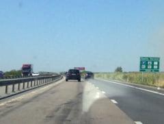 Trafic blocat pe A1 din cauza unui accident - ar putea dura jumatate de zi