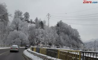 Trafic de cosmar pe drumul dinspre munte: Circulatia a fost deviata