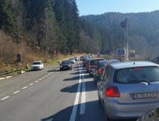 Trafic ingreunat intre Predeal si Busteni, dar si pe Autostrada Bucuresti - Pitesti - UPDATE