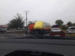 Trafic ingreunat intre Tulucesti si Tatarca, pe DN26