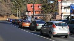Trafic intens pe DN1, in zona statiunilor de pe Valea Prahovei