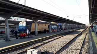 Traficul feroviar din Gara de Nord a fost blocat ore in sir de... o punga