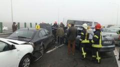 Tragedie pe Autostrada Soarelui: 60 de victime, patru morti, zeci de masini distruse intr-un accident in lant - UPDATE