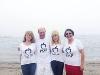 Traian Basescu: Am dreptul sa ma imbrac cum vreau. Votez Partidul Miscarea Populara