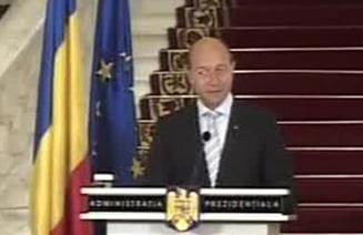 Traian Basescu: Ii multumesc premierului Boc pentru curaj (Video)