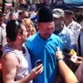 Traian Basescu, baie de multime la un an de la referendum