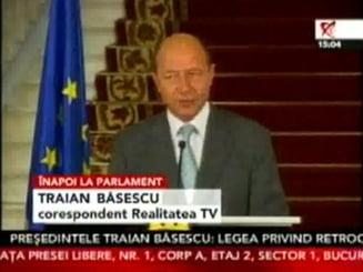 Traian Basescu, corespondent Realitatea Tv