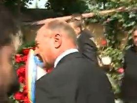 Traian Basescu, cu elicopterul la priveghiul lui Cioaba
