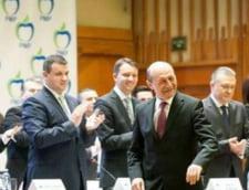 Traian Basescu, prima vizita la sediul PMP