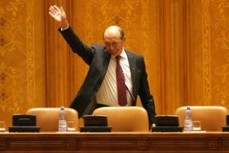 Traian Basescu a fost la CCR (Video)