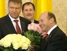 Traian Basescu flori