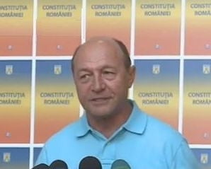 Traian Basescu participa la un miting de sustinere, la Cluj-Napoca