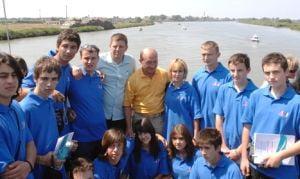 Traian Basescu se intalneste cu copii din Transnistria, la Sulina