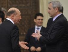 Traian Basescu si Liviu Dragnea au plecat impreuna de la receptia de Ziua Nationala