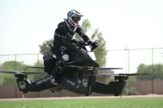 Traim vremuri SF! Politia din Dubai se antreneaza deja pe motociclete zburatoare (Video)