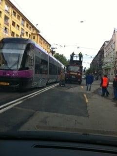 Tramvaiul de 1,5 milioane de euro din Cluj, stricat in prima zi de functionare