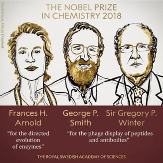 Trei cercetatori impart Nobelul pentru Chimie. Descoperirile lor neutralizeaza toxine si vindeca metastaze