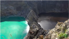 Trei lacuri sunt unul langa altul, dar au culori complet diferite. Iata si explicatia (Video)