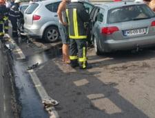 Trei masini s-au ciocnit la Predeal: Sapte persoane au fost ranite, iar traficul este blocat (Foto)