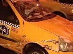 Trei persoane lovite de un taximetrist beat