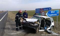 Trei persoane ranite intr-un accident rutier, pe DN2A, la intrarea spre Mihail Kogalniceanu