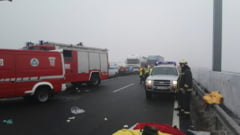 Trei vehicule romanesti, implicate intr-un accident in lant in Ungaria: Patru morti, printre care si un roman