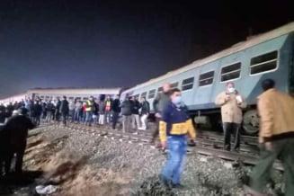 Tren deraiat in apropiere de Cairo. Cel putin 109 de raniti au raportat autoritatile egiptene VIDEO