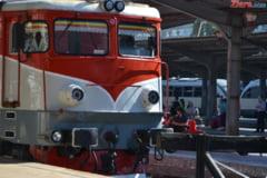 Tren deraiat in judetul Salaj: Zece vagoane au sarit de pe sine