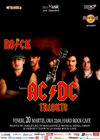 Tribut AC/DC la Hard Rock Cafe pe 20 martie