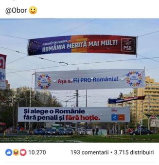 "Trolling cu bannere | Ponta, catre USR - PLUS: Daca tot vreti ""o Romanie fara hotie"" de ce ne-ati furat ideea?"