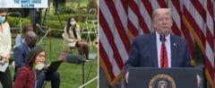 Trump a explodat intr-o conferinta de presa si a plecat vijelios: Nu ma intrebati pe mine, intrebati China! (Video)