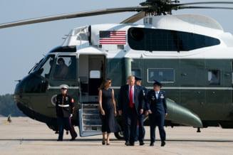Trump a fost intampinat cu proteste in Dayton, unde a mers sa viziteze supravieturitorii atacului