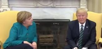 Trump a refuzat sa dea mana cu Merkel. Iata cum a reactionat cancelarul german (Video)