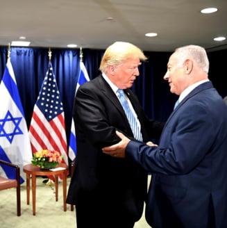 """Trump afirma ca """"este timpul"""" ca SUA sa recunoasca suveranitatea Israelului asupra Inaltimilor Golan"""