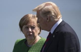 "Trump afirma ca SUA au o relatie ""extraordinara"" cu Merkel, la cateva ore dupa ce a spus ca Germania e ""controlata total de Rusia"""