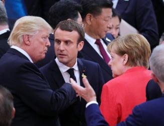 Trump i-a sunat pe Merkel si Macron sa vorbeasca despre situatia din Siria si declaratiile lui Putin