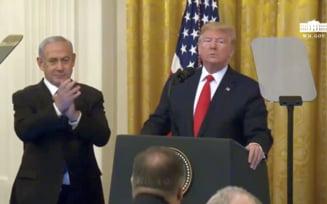 """Trump isi dezvaluie planul de pace in Orientul Mijlociu si evoca o solutie """"realista cu doua state"""" (Video)"""