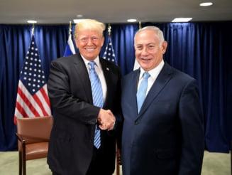 Trump recunoaste suveranitatea Israelului asupra Platoului Golan, in timp ce avioane israeliene bombardeaza Fasia Gaza