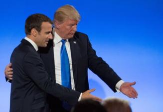 Trump si Macron au vorbit aproape o ora, la telefon, despre problemele internationale