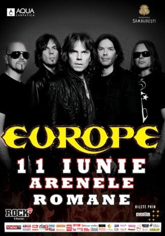 Trupa Europe, in concert la Bucuresti - a inceput numaratoarea inversa