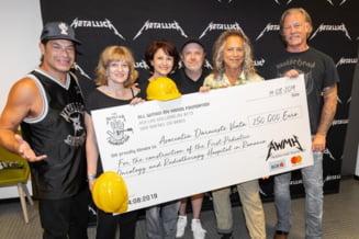"Trupa Metallica a donat o suma impresionanta pentru spitalul de oncologie construit de Asociatia ""Daruieste Viata"""